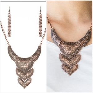 TEXAS TEMPTRESS COPPER NECKLACE/EARRING SET